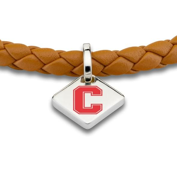 Cornell Leather Bracelet with Sterling Silver Tag - Saddle - Image 2