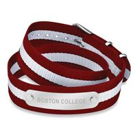 Boston College Double Wrap NATO ID Bracelet