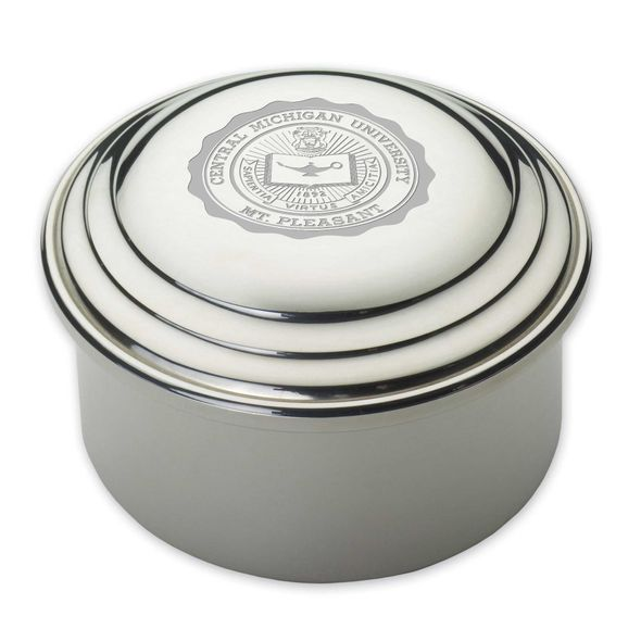 Central Michigan Pewter Keepsake Box