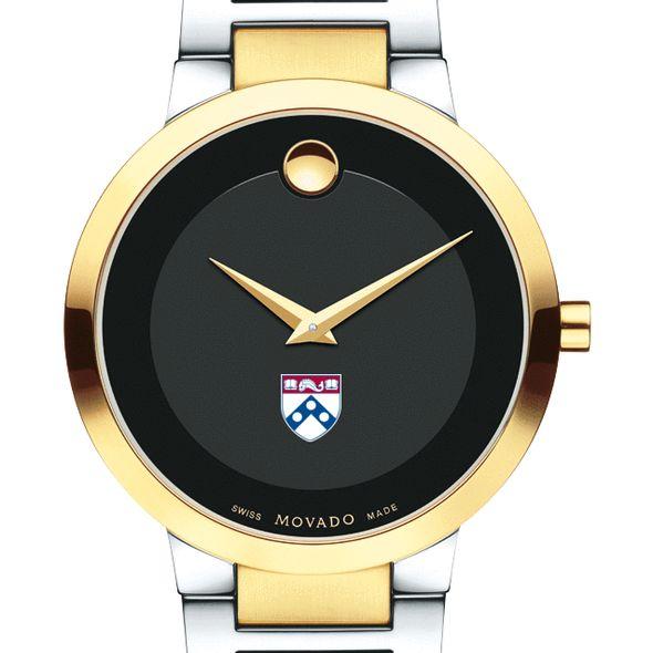 University of Pennsylvania Men's Movado Two-Tone Modern Classic Museum with Bracelet