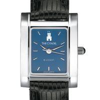 Citadel Women's Blue Quad Watch with Leather Strap