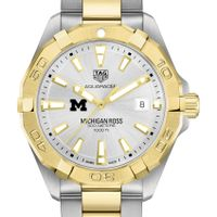 Michigan Ross Men's TAG Heuer Two-Tone Aquaracer