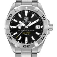 West Point Men's TAG Heuer Steel Aquaracer with Black Dial