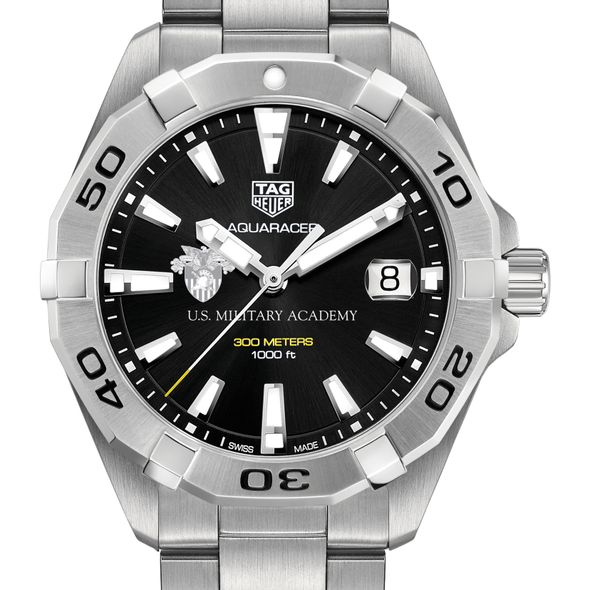 US Military Academy Men's TAG Heuer Steel Aquaracer with Black Dial