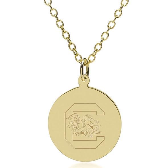 South Carolina 18K Gold Pendant & Chain