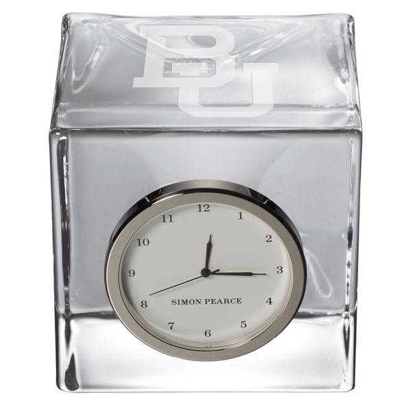 Baylor Glass Desk Clock by Simon Pearce - Image 2