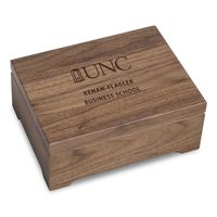 UNC Kenan-Flagler Solid Walnut Desk Box