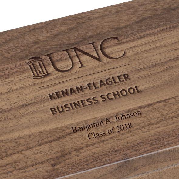 UNC Kenan-Flagler Solid Walnut Desk Box - Image 3
