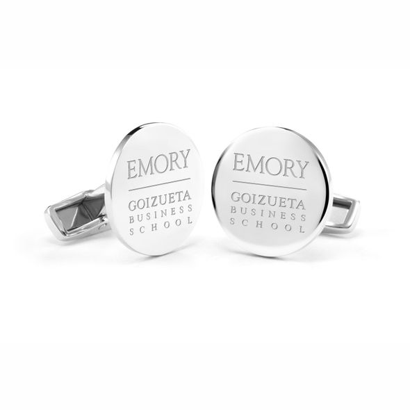 Emory Goizueta Cufflinks in Sterling Silver