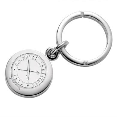 USNI Sterling Silver Insignia Key Ring