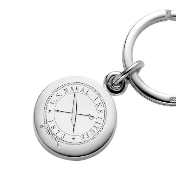 USNI Sterling Silver Insignia Key Ring - Image 2