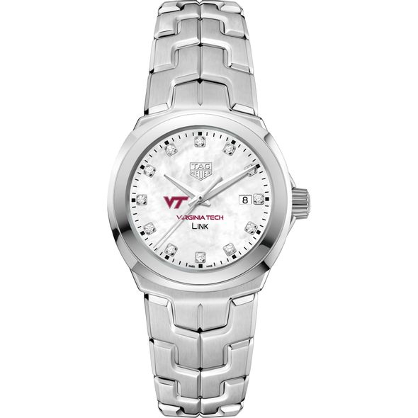 Virginia Tech TAG Heuer Diamond Dial LINK for Women - Image 2