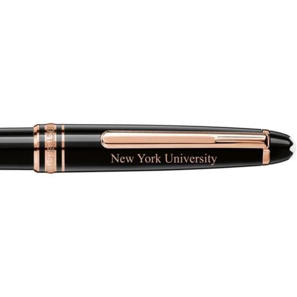 New York University Montblanc Meisterstück Classique Ballpoint Pen in Red Gold - Image 2