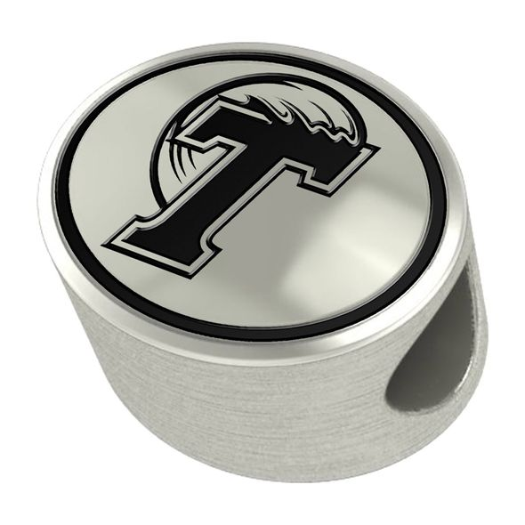 Tulane University Enameled Bead in Black