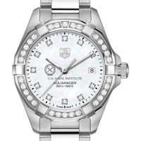 US Naval Institute Women's TAG Heuer Steel Aquaracer with MOP Diamond Dial & Diamond Bezel