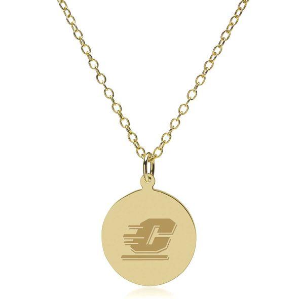 Central Michigan 18K Gold Pendant & Chain - Image 2