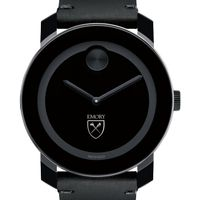 Emory University Men's Movado BOLD with Leather Strap