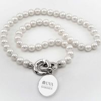 UVA Darden Pearl Necklace with Sterling Silver Charm