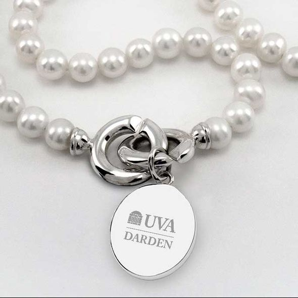 UVA Darden Pearl Necklace with Sterling Silver Charm - Image 2