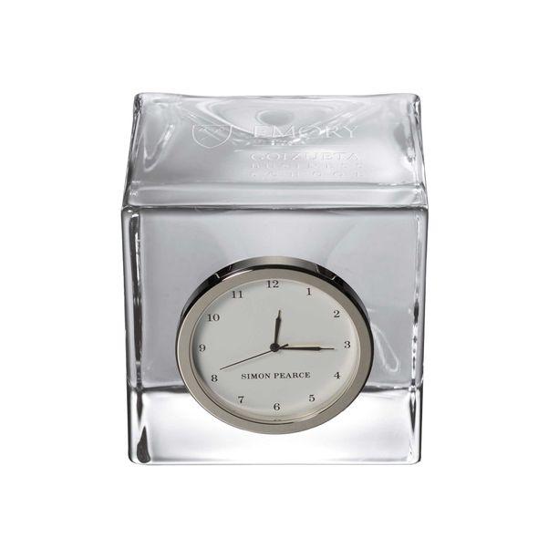 Emory Goizueta Glass Desk Clock by Simon Pearce - Image 1