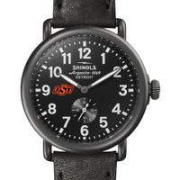 Oklahoma State Shinola Watch, The Runwell 41mm Black Dial