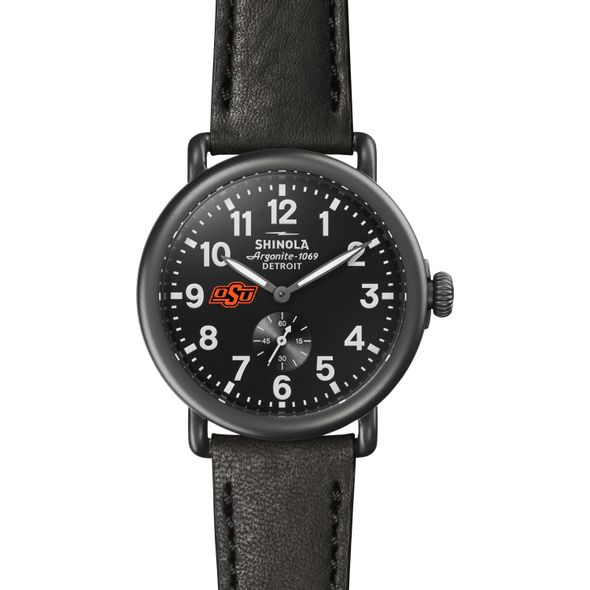 Oklahoma State Shinola Watch, The Runwell 41mm Black Dial - Image 2
