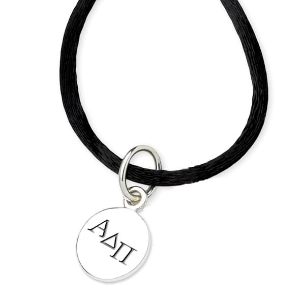 Alpha Delta Pi Satin Necklace with Sterling Charm - Image 2