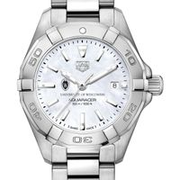 University of Wisconsin Women's TAG Heuer Steel Aquaracer w MOP Dial