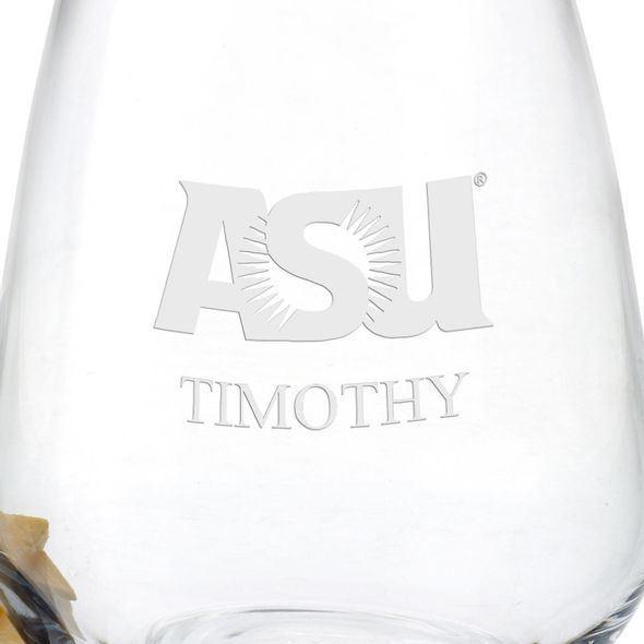 Arizona State Stemless Wine Glasses - Set of 2 - Image 3