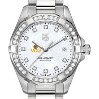 Virginia Commonwealth University W's TAG Heuer Steel Aquaracer with MOP Dia Dial & Bezel