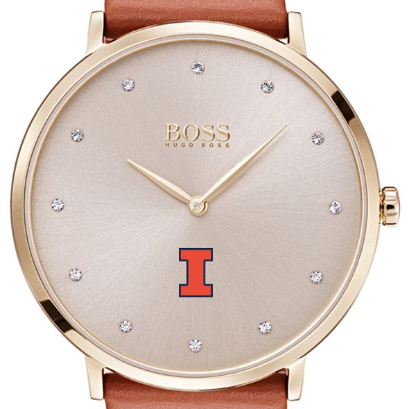 University of Illinois Women's BOSS Champagne with Leather from M.LaHart