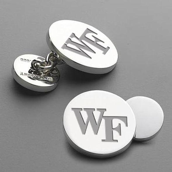 Wake Forest Cufflinks w/ chain - Image 1