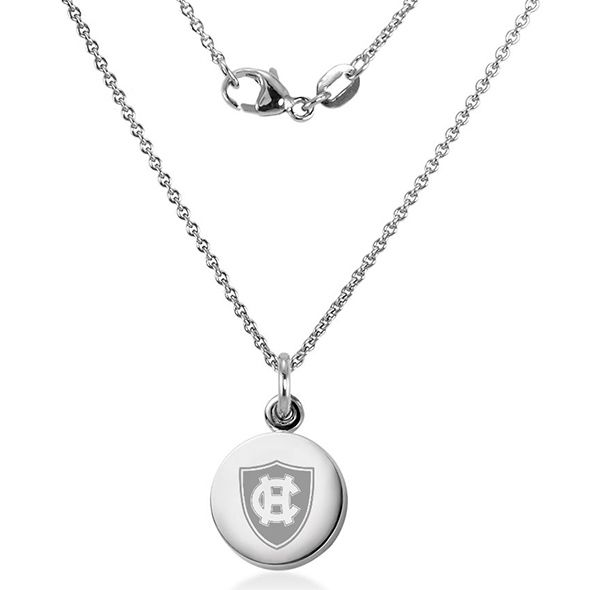 Holy Cross Necklace with Charm in Sterling Silver - Image 2