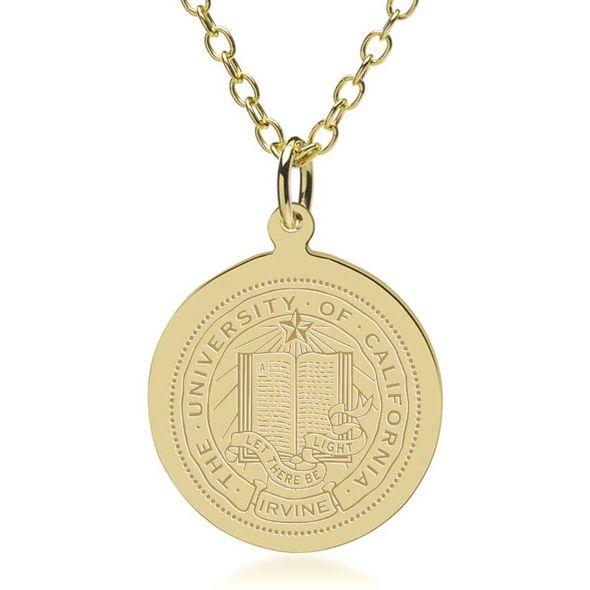 UC Irvine 14K Gold Pendant & Chain - Image 1