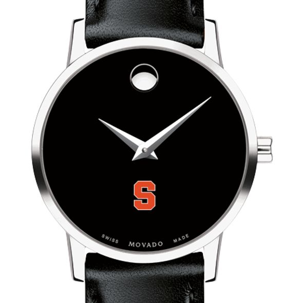 Syracuse University Women's Movado Museum with Leather Strap