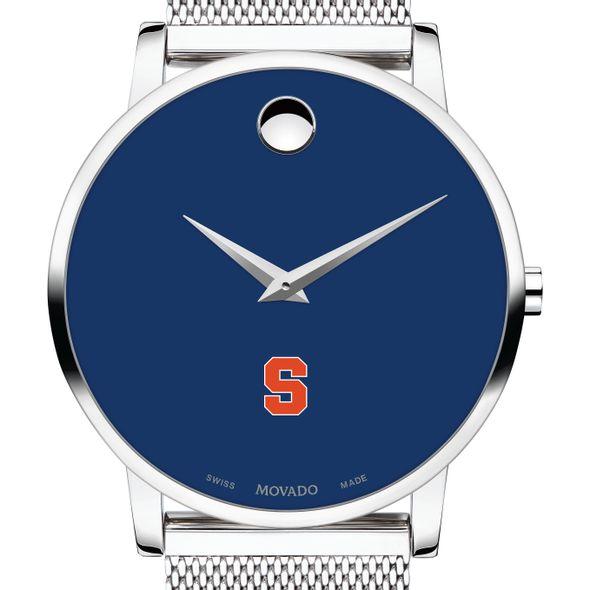 Syracuse University Men's Movado Museum with Blue Dial & Mesh Bracelet