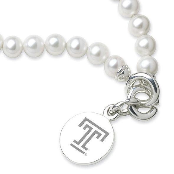 Temple Pearl Bracelet with Sterling Silver Charm - Image 2