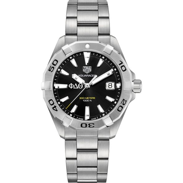 Phi Delta Theta Men's TAG Heuer Steel Aquaracer with Black Dial - Image 2