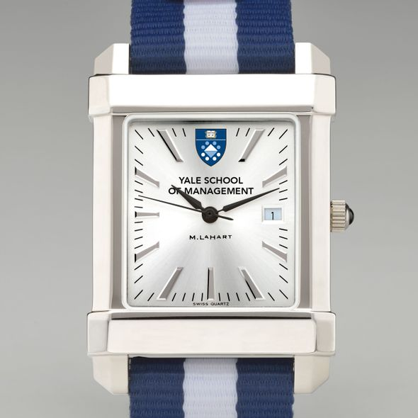Yale SOM Collegiate Watch with NATO Strap for Men - Image 1