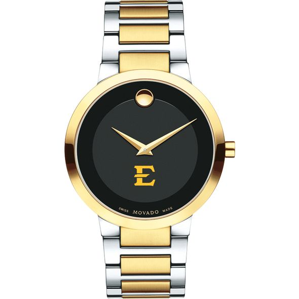 East Tennessee State University Men's Movado Two-Tone Modern Classic Museum with Bracelet - Image 2