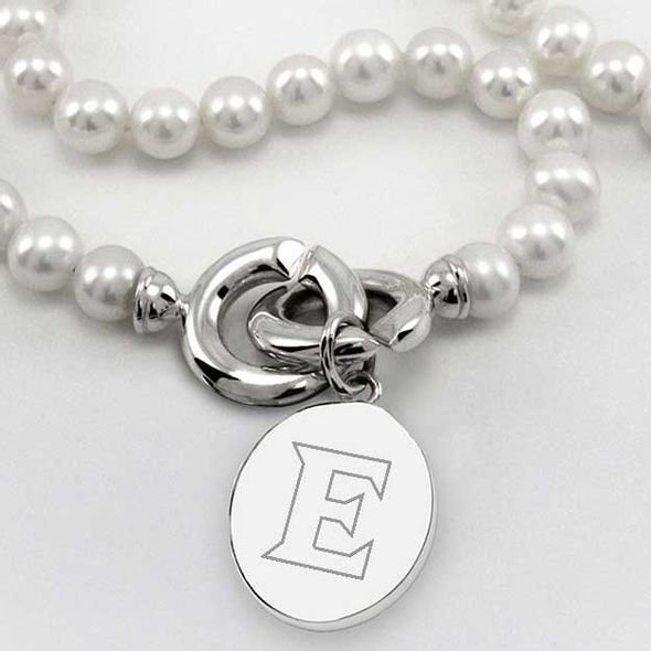 Elon Pearl Necklace with Sterling Silver Charm - Image 2