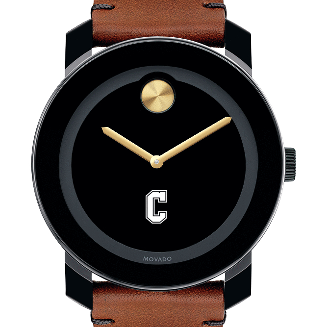 College of Charleston Men's Movado BOLD with Brown Leather Strap