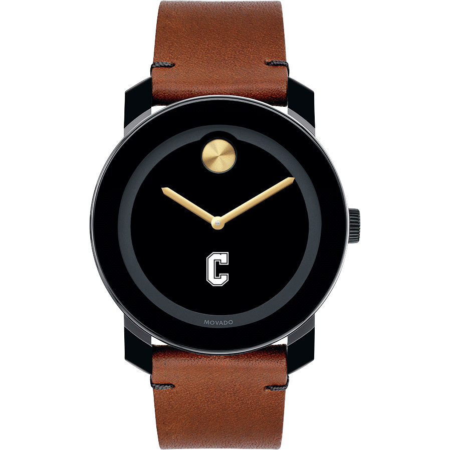 College of Charleston Men's Movado BOLD with Brown Leather Strap - Image 2