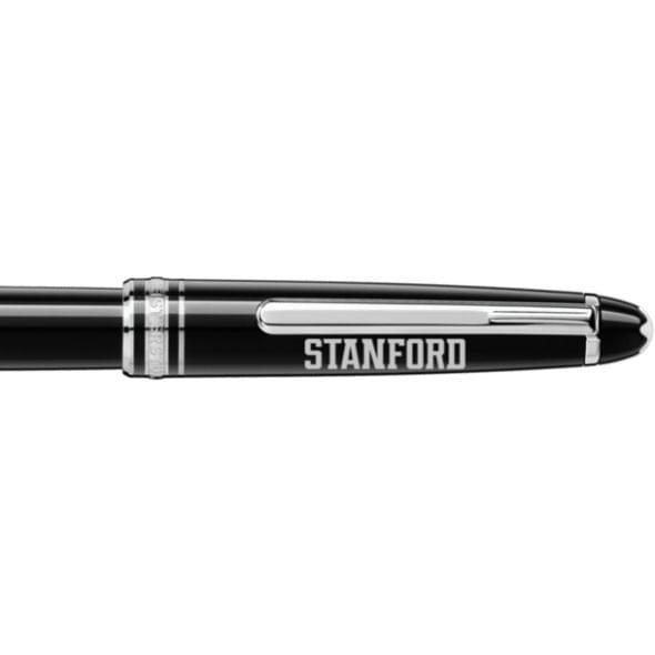 Stanford University Montblanc Meisterstück Classique Rollerball Pen in Platinum - Image 2