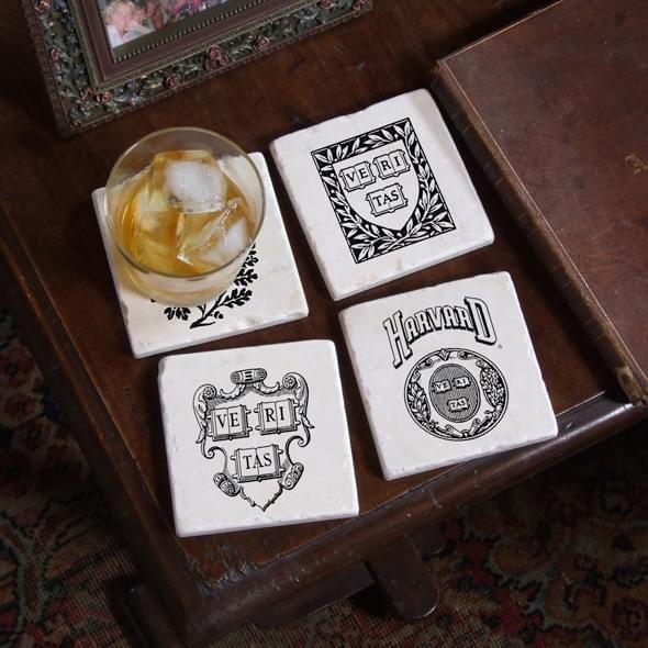 Harvard Vintage Logos Marble Coasters - Image 2