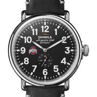 Ohio State Shinola Watch, The Runwell 47mm Black Dial