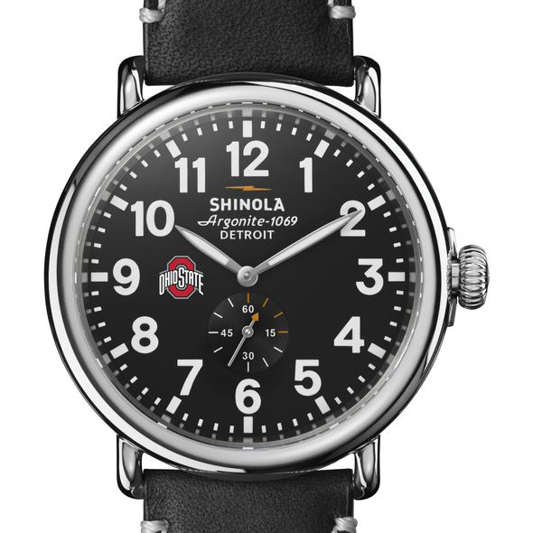 Ohio State Shinola Watch, The Runwell 47mm Black Dial - Image 1