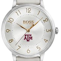 Texas A&M University Women's BOSS White Leather from M.LaHart