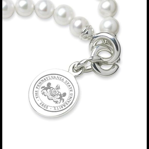 Penn State Pearl Bracelet with Sterling Silver Charm - Image 2