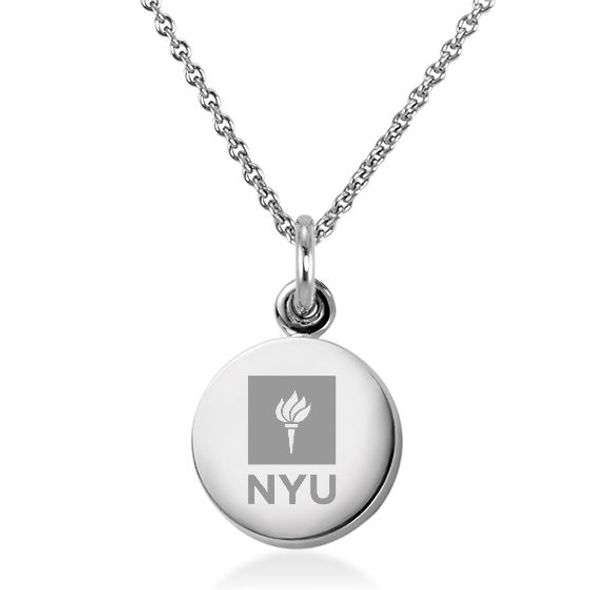 New York University Necklace with Charm in Sterling Silver